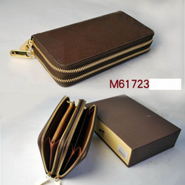 Wholesale Men Gif - 2017 Free Shipping Men's suits classic brand wallets luxury man purse LOGO gif