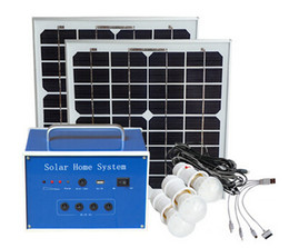Wholesale Small Solar Panel System - Powered foot 20W home 12V solar panels small power generation lighting system mobile phone charging outdoor