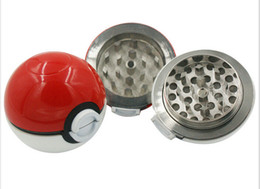 Wholesale Three Layer Tobacco Grinder - New Arrival Pokeball Grinder Poke Grinders Smoke Filter Three Layers Metal Tobacco Grinders Originality Smoking Accessories Herb Grinders