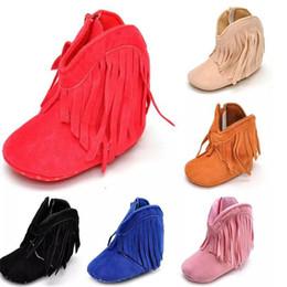 2019 sapatos de natal botas miúdos New Baby tassel Primeiros Caminhantes crianças meninas meninos botas criança franja borla inverno quente botas sapatos presentes de Natal infantil C001 desconto sapatos de natal botas miúdos