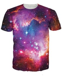 Wholesale Galaxy Cosmic - unisex women men 3d summer t-shirt Cosmic Forces T-Shirt the night and setar print tee galaxy t shirts girl and boy tees