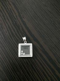 luxurybrand real 925 sterling silver cristallo di alta qualità cz diamanti collana pendente per le donne felice diamante quadrato classico ciondolo da bottiglie designer all'ingrosso fornitori