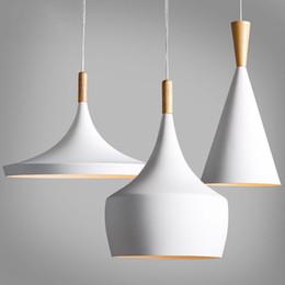 Wholesale tom dixon beat lighting - Design by Tom Dixon Pendant Lamp Beat Light tom dixon White wooden instrument Chandelier,3PCS PACK