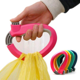 Wholesale One Trip Bag Holder - One Trip Grips Grocery Carrier Holder Handle Lock Shopping Bag Labor Saving Tool H210260