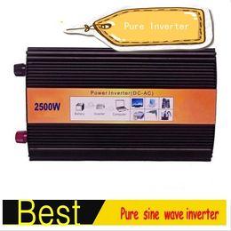 Canada 2500W Onduleur à onde sinusoïdale pure 2500W Onduleur solaire DC12V AC220V 50Hz Puissance de crête 5000W Offre