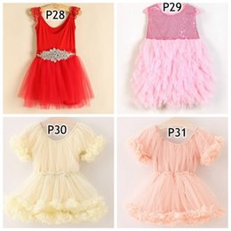 Wholesale Girls Pinafore Lace - NEW kids tutu dresses Children's dress girls pinafore paillette Sequins sweet backless girl sleeveless princess layered tulle tutu big bow