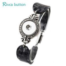 Wholesale Hot Bangle Designs Gold - P00813 -6 Hot noosa Snap Bracelet&Bangles Newest Design Fashion Leather Charm Bracelets Fit 18mm Rivca Snaps Button Jewelry