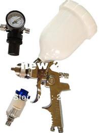 Wholesale Spray Paint Gravity - W-960 high quality spray gun kit gravity stainless steel 600ml cup hvlp spray gun