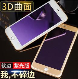 2019 mela blu Per iPhone7 7plus 6g 5s 5c Anti Blue Light Filtering cura degli occhi 9H 3D curvo protezione per schermo in vetro temperato con copertura al dettaglio sconti mela blu