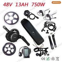 Wholesale Electric Kit 48v - Electric Bicycle kit 8fun bafang 48V 750W Motor Wheel BBS02 + 48V 13AH Hailong No.1 E-Bike Lithium ion Battery with USB Port