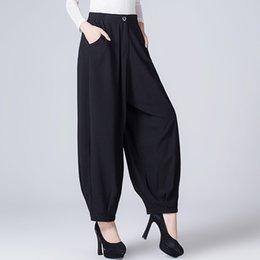 Wholesale High Waist Pans - Women Pants Wide-Legged Pants Female Trousers Of Autumn Han Edition Culottes Easy Leisure Female Trousers High Waist Pan
