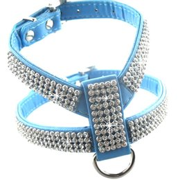 Wholesale Dog Harness Diamonds - Dog Collar Fashion Pet Collar Dog Necklace For Pet Adjustable Quick Release Puppy Shining diamond Rhinestone Sparkly BLB0011