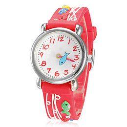 Wholesale Waterproof Fishing Watches - Watch for children cartoon fish Waterproof Kid Watches Brand Quartz Wrist Watch Baby For Girls Boys Fashion Casual Reloj