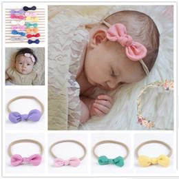Wholesale Nylon Headbands For Babies - Newborn Baby Headbands Bunny Ear Elastic Headband Children Hair Accessories Kids Cute Hairbands for Girls Nylon Bow Headwear Headdress