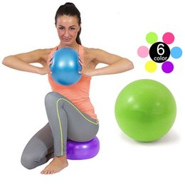 Wholesale Fitness Balance - Mini Yoga Ball Physical Fitness ball for fitness Appliance Exercise balance Ball home trainer balance pods GYM YoGa Pilates 20cm,25cm,30cm