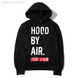 Wholesale Hba Hood Air Women - Wholesale-2015ss new men women hba hiphop Hooded pullovers Skateboard hoodies hood by air sweatshirts black white Size M L XL HBWBSWG