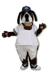 Wholesale White Dog Mascot Suit - 2016 High quality Cool White Coate St. Bernard Dog Mascot Costume Advertising Brown Dog Mascotte Outfit Suit Cosply Carnival Costume