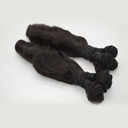 Wholesale Spring Curls Human Hair - G-EASY Top Quality Cheap Brazilian Hair Weaves Aunty Funmi Hair Russian Spring Curl 3Pcs Human Hair Extension Natural Color