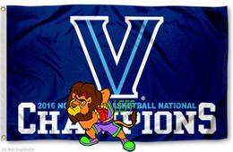 Wholesale Fly Banners - Villanova Wildcats Flag 2016 Basketball National Champs NCAA Flag 3ft x 5ft Polyester Banner Flying 150* 90cm Custom flag VW5