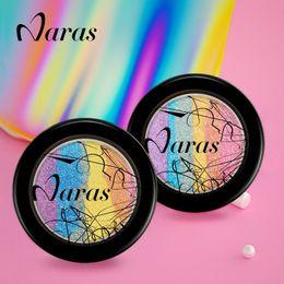Wholesale Cheap Styling Tools - Naras DIY Rainbow Highlights Eye shadow Palette Rainbow Blush 2 Styles Optional Cheap Makeup Tools Free Shipping