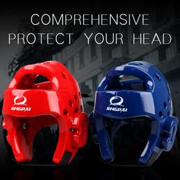 Envío gratis Mma Karate Muay Thai Kick Training Helmet Boxing Head Guard Protector Tkd Headgear Sanda Taekwondo Protection Gear desde fabricantes