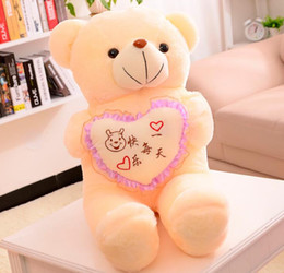 Wholesale Stuffed Animals Wedding Bears - Hot 70cm Children Plush Soft Teddy Bears with Scarf Stuffed Animals Toys Wedding Birthday Party Decor Lovers Girls' Gifts Dolls