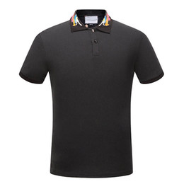 Wholesale Mens Plus Size Polo - New Arrival 2017 hliantao brand Summer Style Short Sleeve Solid dragon Color block Polo Shirts Brand Mens Polos shirt plus size M-3XL 1536