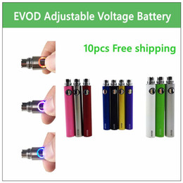 Wholesale Ecig Variable - 10 PCS LOT EVOD Variable Voltage battery 650mAh 900mAh 1100mAh ecig batteries for MT3 CE4 CE5 atomizer