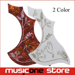 Wholesale Multi color Butterfly Hummingbird and Flower Guitar Pickguard Acoustic Guitar Pickguard Pick Guard Sticker MU1322