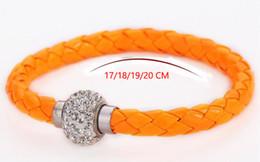 Deutschland USA HEIßER Neue Kristall Charme Lederarmbänder Für Frauen Magnetverschluss Infinity Armbänder Armreifen Großhändler Mix Farben Versorgung