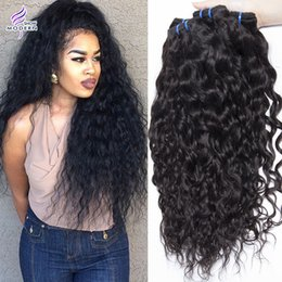 Wholesale Peruvian Water Wave Extension - Brazilian Human Hair Bundles Wet and Wavy Brazilian Virgin Human Hair Weave 4 Bundles Peruvian Water Wave Curly Weave Hair Extensions