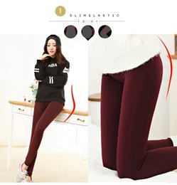 Wholesale Thick Knitted Pants - 2017 High Elasticity Women's Fleece Leggings Suit go with Dress Warm Leggings Thick Velvet Pants For Autumn And Winter