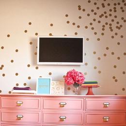 Wholesale Polka Sticker - dot stickers Gold Dots Sticker Baby Nursery Stickers Kids Golden Polka Dots Children Wall Decals Home Decor DIY