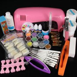 Wholesale Professional Uv Gel Nail Supplies - Professional Manicure Set Acrylic Nail Art Salon Supplies Kit Tool with UV Lamp UV Gel Nail Polish DIY Makeup Full Set
