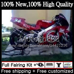 Wholesale Lucky Strike Motorcycle Fairings - Body For SUZUKI RGV250 VJ23 97-98 RGV 250 97 98 Bodywork 39G817 RGV-250 VJ 23 Cowling RGV250 1997 1998 Lucky Strike Motorcycle Fairing kit