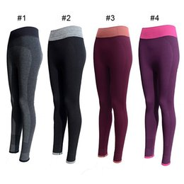 Wholesale Long Black Pant Tights - Women Fashion Tight Sportwear Nice Leggings High Elastic Thin Sports Yoga Pants Fitness Running Long Trousers Legging 2501033