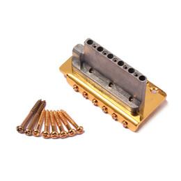 Wholesale Gold Tremolo Bridge - Gold Electric Guitar Tremolo Bridge Single Locking System
