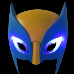 Wholesale Halloween Mask Luminous - Plastic Avengers Marvel Super Hero X-Men Wolverine Electronic Luminous Glow Mask Toys