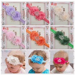 Wholesale Crown For Sale Baby - Hot Sale Hair Accessories For Infant Baby Big Flower Crown Princess Babies Girl Hair Band Headband Baby's Head Band Kids Hairwear