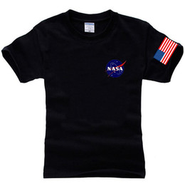 Wholesale Yeezus T Shirt - NASA T Shirt Men Fashion Summer 100% Cotton Hip-Hop Tees Brand Clothing Palace Yeezus Men Tops