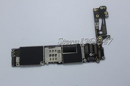 Wholesale Iphone Motherboard Logic Board - Wholesale-Original Unlocked without fingerprint For Iphone 6 4.7 inch motherboard 16GB EU Version High Quality mainboard with logic board