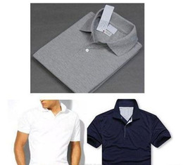 Wholesale Big Horse Shirts - HOT sell Polo Shirt 2018 Summer New Brand Big small Horse crocodile tommy Men Clothing Solid Mens Embroidery Polo Shirts