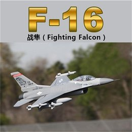 Wholesale Model Kit Jet - High speed 70mm edf rc jet planes F16 model eps foam remote control airplane kits toys drop shipping