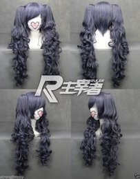 Wholesale Black Ponytail Cosplay Wig - 100% Brand New High Quality Fashion Picture wigs>>>Black Butler Kuroshitsuji CIEL long Phantomhive Ponytail Cosplay Anime Wig S991