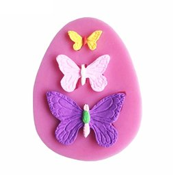 Wholesale Butterfly Silicone Cake - 200pcs 3D Butterfly Cake Mold Handmade Silicone Baking Tools Decorations For Cakes Fondant Chocolates Mold Soap Mold ZA0437