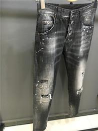 Wholesale Button Fly Men S Jeans - SS18 NEW autumn Coolguy Pants type Skinny Button Fly Mens Jeans Micro-stretch Denim Desinger D1801-1803 Slim Fit Make Shabby holes top Men