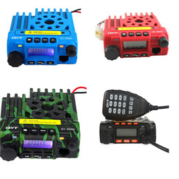 Wholesale Vhf Mobile Radios - QTY kt-8900 mobile radio transceiver kt8900 mini car bus army mobile vhf two way radio station UHF VHF 136-174 400-480MHz BLUE
