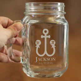 Wholesale Wholesale Large Glass Jars - Wholesale- Wedding Anniversary and Birthday Party Decoration of Mason Jar Cups Large Capacity Can Hold 450ml Liquid Glass Mason Jars Mug