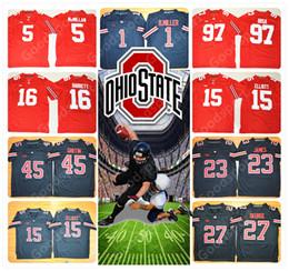 Wholesale Footballs Johnson - Youth Ohio State Buckeyes NCAA Jersey 97 BOSA 16 BARRETT 15 ELLIOTT 23 JAMES 27 GEORGE 33 JOHNSON 45 GRIFFIN 1 B.MILLER