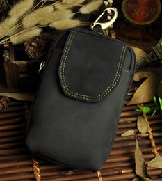 Wholesale Camera Bag Small Leather - KISSUN Factory Pure Leather Small Men Bag Crazy Horse Leather Quality Men Bags Cellphone Waist Bag Camera Bag Wholesale